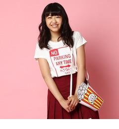 【ピンクラテ/PINK?Latte】 ロゴプリントTシャツ [3000円(税込)以上で送料無料]