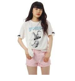 【ピンクラテ/PINK?Latte】 ロゴラビットTシャツワンピース [3000円(税込)以上で送料無料]