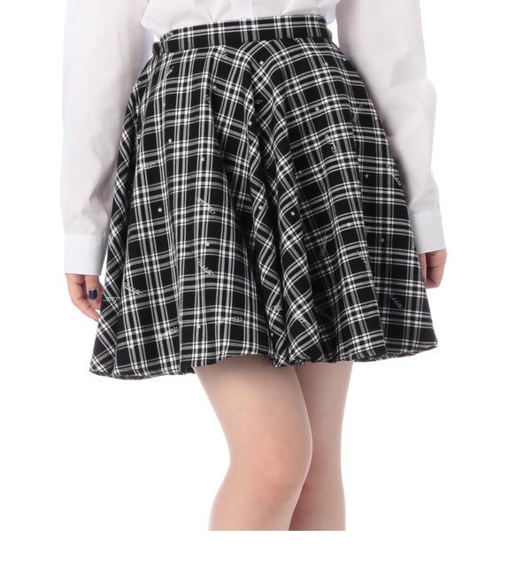 【ピンクラテ/PINK?Latte】 ネックリボン付きチェック柄スカート [3000円(税込)以上で送料無料]