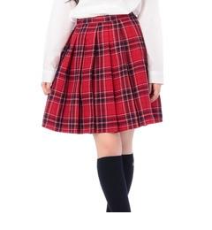 【ピンクラテ/PINK?Latte】 リボンタイ付きチェックプリーツスカート [3000円(税込)以上で送料無料]