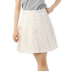 【ピンクラテ/PINK?Latte】 ツイルタックプリーツスカート [3000円(税込)以上で送料無料]