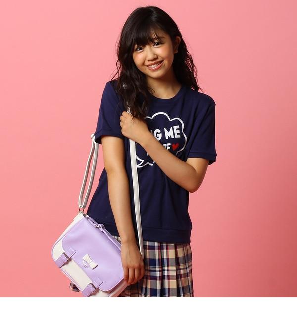 【ピンクラテ/PINK?Latte】 HUG MEプリントトレーナー [3000円(税込)以上で送料無料]