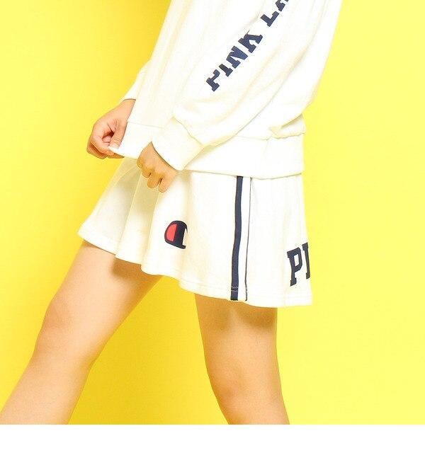 【ピンクラテ/PINK?Latte】 Champion バックロゴスカート [送料無料]