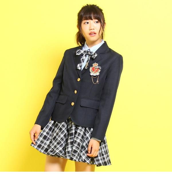 【ピンクラテ/PINK?Latte】 エンブレム刺繍入りブラウス [送料無料]