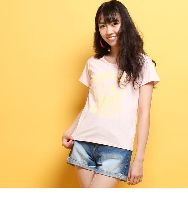 【ピンクラテ/PINK?Latte】 Neon Soda ロゴスマイルTシャツ [3000円(税込)以上で送料無料]