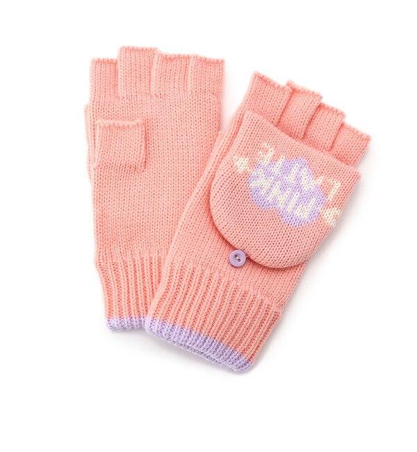 【ピンクラテ/PINK?Latte】 ハートロゴ指きり手袋 [3000円(税込)以上で送料無料]