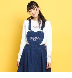 【ピンクラテ/PINK?Latte】 SPINNS×PINK-latte ベロアリボンニット [3000円(税込)以上で送料無料]