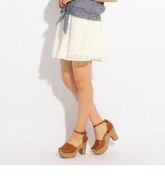 【ピンクラテ/PINK?Latte】レーススカート[送料無料]
