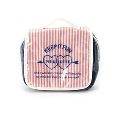 【ピンクラテ/PINK?Latte】 ストライプトラベルポーチ [3000円(税込)以上で送料無料]