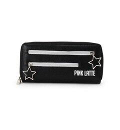 【ピンクラテ/PINK?Latte】 レザー調スターチャームファスナー長財布 [送料無料]