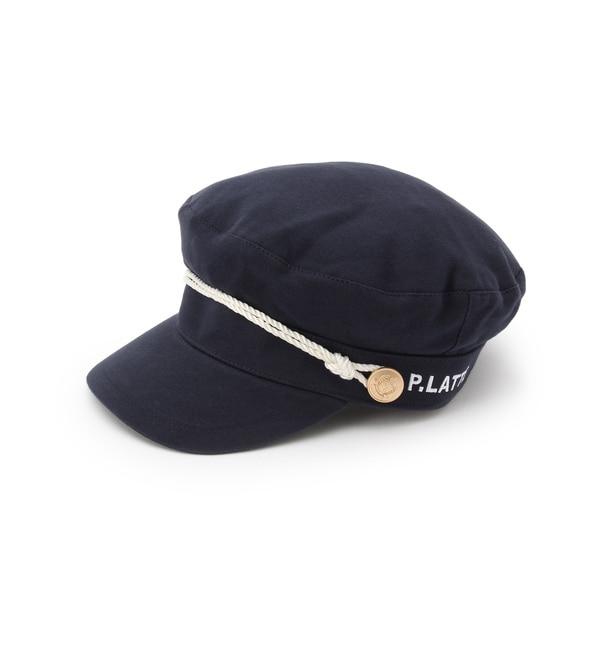 マリンキャスケット【ピンクラテ/PINK-Latte キッズ キャップ・キャスケット ネイビー(093) ルミネ LUMINE】