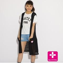 <アイルミネ>【ピンクラテ/PINK−Latte】 ロゴTシャツ+ジレセット [3000円(税込)以上で送料無料]画像
