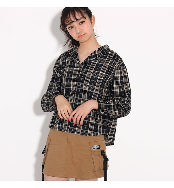 【ピンクラテ/PINK-Latte】 ★ニコラ掲載★ガーリーシャツ
