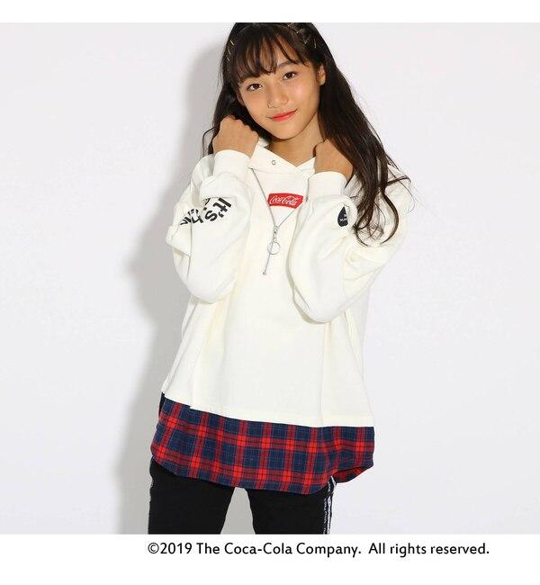 【ピンクラテ/PINK-Latte】 【コカ・コーラ】フェイクZIP パーカー