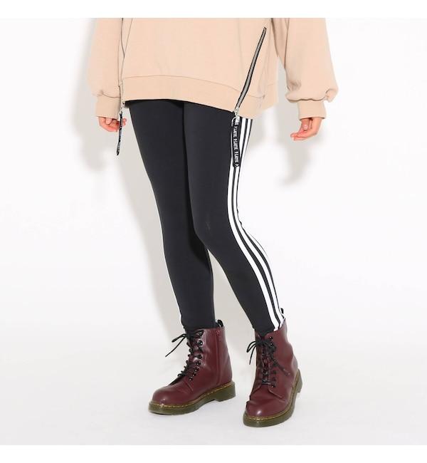 【ピンクラテ/PINK-Latte】 adidas スリーストライプレギンス