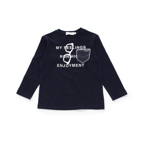 【ザ ショップ ティーケー/THE SHOP TK】 メガネポケットプリントロングTシャツ [3000円(税込)以上で送料無料]