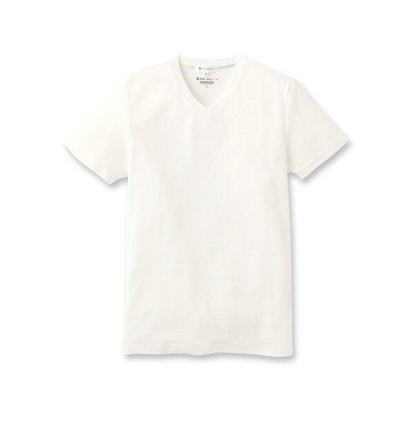 【ザ ショップ ティーケー/THE SHOP TK】 フライスVネックTシャツ [3000円(税込)以上で送料無料]
