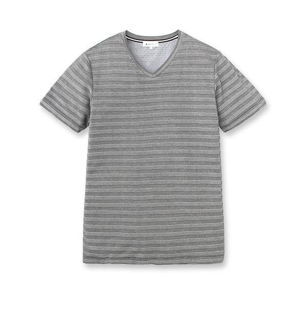 【ザ ショップ ティーケー/THE SHOP TK】 シャドウボーダーTシャツ [3000円(税込)以上で送料無料]