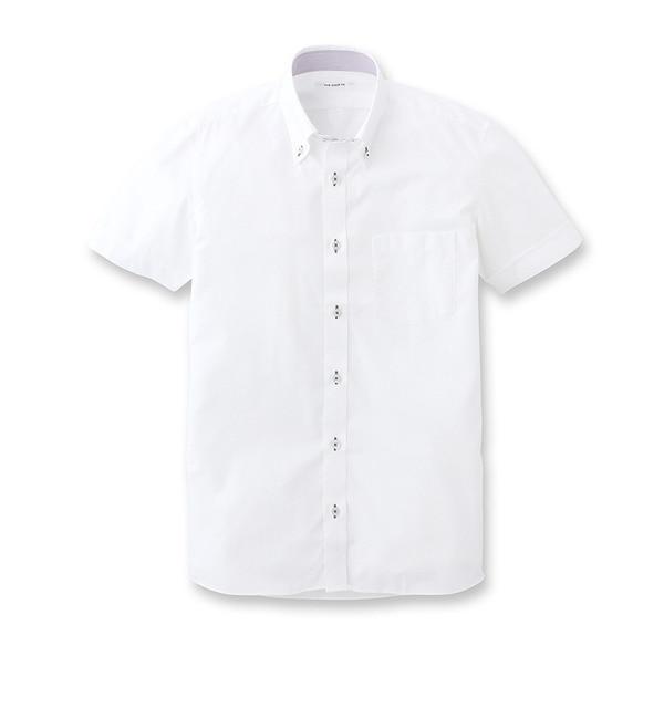 【ザ ショップ ティーケー/THE SHOP TK】 半袖白シャツ [3000円(税込)以上で送料無料]
