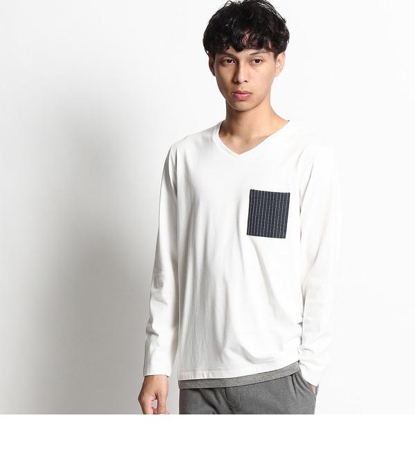 【ザ ショップ ティーケー/THE SHOP TK】 裾レイヤード長袖Tシャツ [3000円(税込)以上で送料無料]