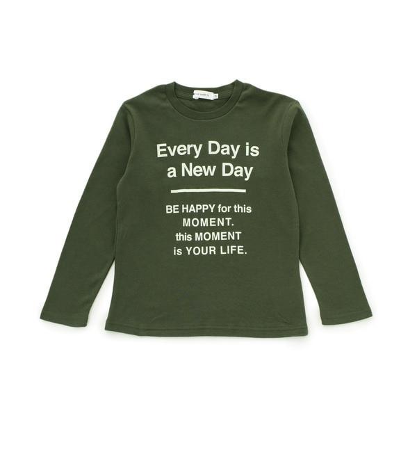 【ザ ショップ ティーケー/THE SHOP TK】 EVERYDAY ロゴ長袖Tシャツ [3000円(税込)以上で送料無料]