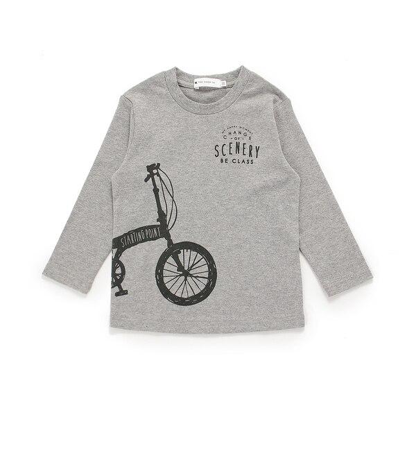 【ザ ショップ ティーケー/THE SHOP TK】 自転車プリントスムースロンT [3000円(税込)以上で送料無料]
