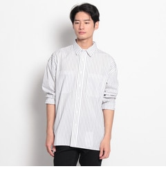 【ザ ショップ ティーケー/THE SHOP TK】 ストライプコットンシャツ [送料無料]