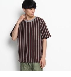 【ザ ショップ ティーケー/THE SHOP TK】 天竺太ストライプTシャツ [3000円(税込)以上で送料無料]