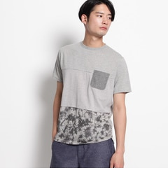 3段切替Tシャツ【ザ ショップ ティーケー/THE SHOP TK メンズ Tシャツ・カットソー ダークグレー(513) ルミネ LUMINE】