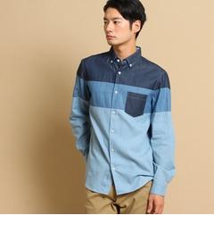 【ザ ショップ ティーケー/THE SHOP TK】 デニムパッチワークシャツ [送料無料]