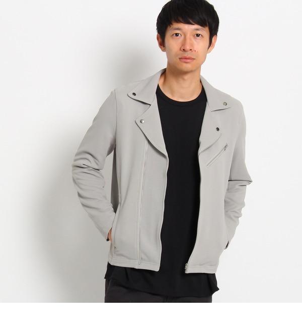 人気メンズファッション 【ザ ショップ ティーケー/THE SHOP TK】 ライダースジャージジャケット [送料無料]