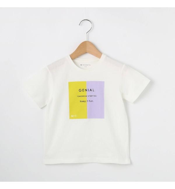 【ザ ショップ ティーケー/THE SHOP TK】 【100cm?140cm】GIRLS BOXストライプTシャツ