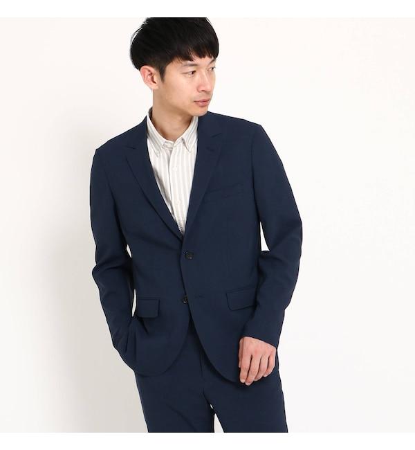 【ザ ショップ ティーケー/THE SHOP TK】 テクノスーツジャケット・ネイビーグレンチェック