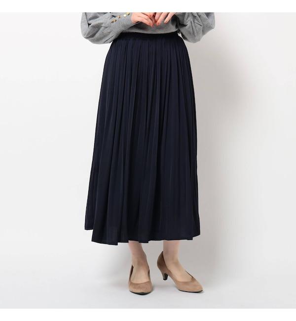 【ザ ショップ ティーケー/THE SHOP TK】 サテン消しプリーツスカート