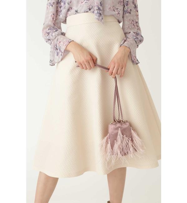 【ジルスチュアート/JILLSTUART】 ◆フェザー巾着ショルダーバッグ