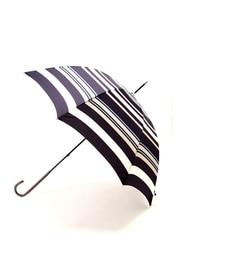 【ナチュラルビューティーベーシック/NATURALBEAUTYBASIC】リズムボーダー長傘[3000円(税込)以上で送料無料]
