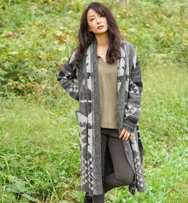 【goa/goa】 NAVAJO BLANKET ジャガード ニットガウン [送料無料]