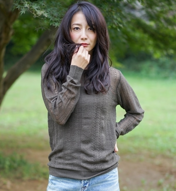 【goa/goa】 アイレット ウールニット プルオーバー × キャミソール SET [送料無料]