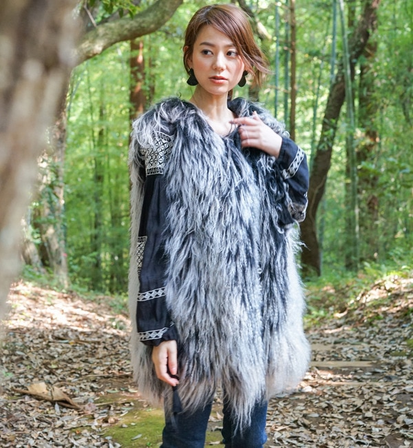 【goa/goa】 チベットラム Fur ベスト [送料無料]