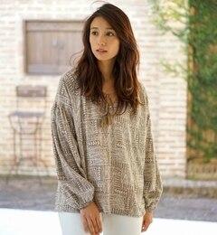 【goa/goa】 レーヨン平 TRIBAL プリント プルオーバーブラウス [送料無料]