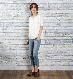 【goa/goa】11.5ozセルヴィッチストレッチブロークン裾段差スキニー[送料無料]