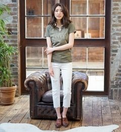 【goa/goa】11.5ozDENIMセルヴィッチブロークンホワイト裾段差カットスキニー[送料無料]