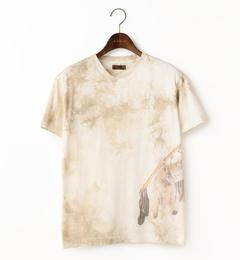 【goa/goa】 ムラ染ボウ&アローインクジェットTシャツ [送料無料]