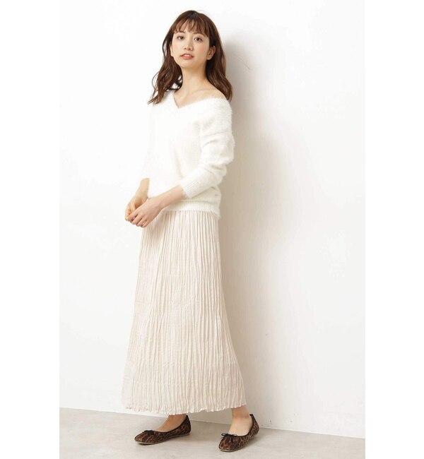 【プロポーションボディドレッシング/PROPORTION BODY DRESSING】 |美人百花 10月号掲載|◆ロングランダムプリーツスカート
