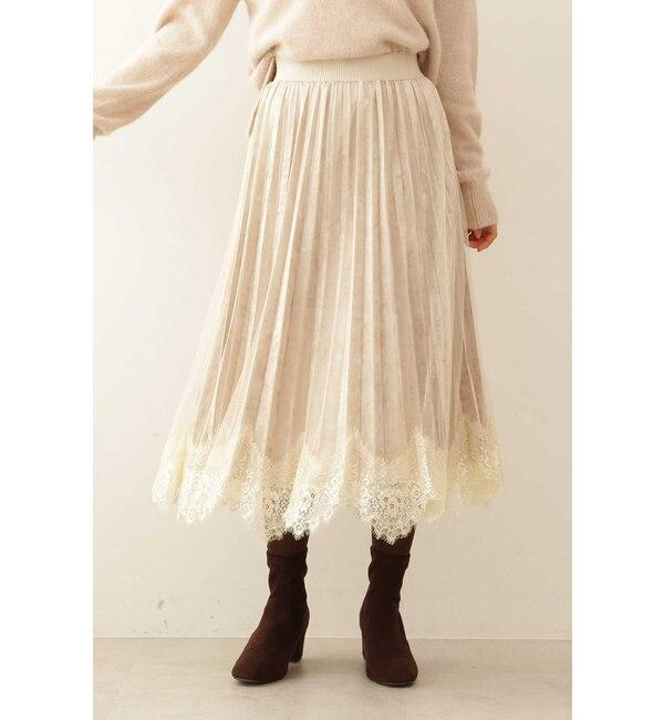 【プロポーションボディドレッシング/PROPORTION BODY DRESSING】 《EDIT COLOGNE》ベロアプリーツチュールスカート