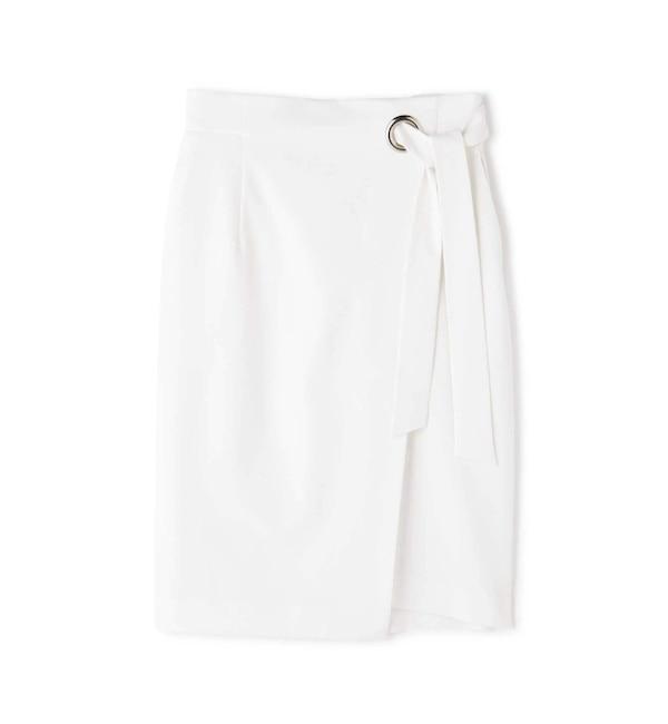 【ピンキーアンドダイアン/PINKY&DIANNE】 ワイドハトメラップリボンスカート