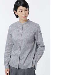 【ヒューマンウーマン/HUMAN WOMAN】 リバティプリント スタンドカラーシャツ [送料無料]