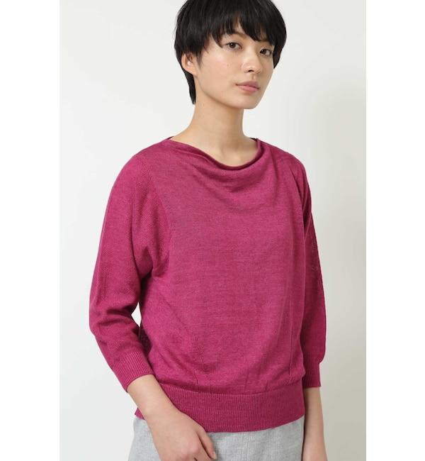 【ヒューマンウーマン/HUMAN WOMAN】 ドレープネックプルオーバー