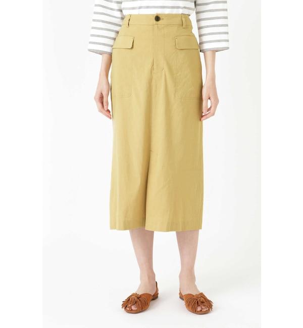 【ヒューマンウーマン/HUMAN WOMAN】 麻ストレッチタイトスカート
