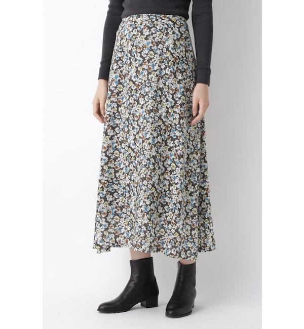 【ヒューマンウーマン/HUMAN WOMAN】 キュプラシルクローンプリントスカート